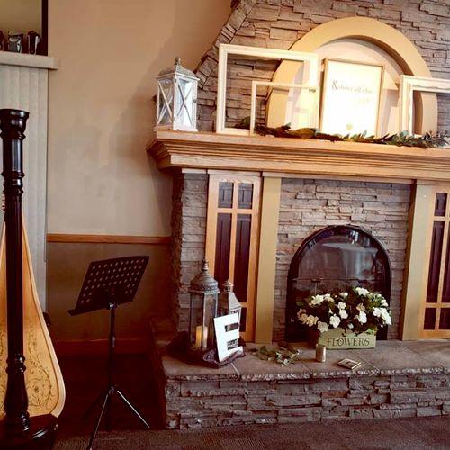 Cozy wedding reception