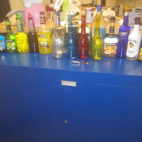 my personal home bar setup for my private parties