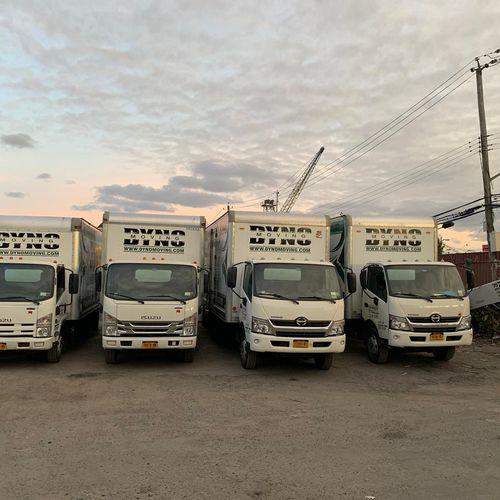 Clean, new trucks.