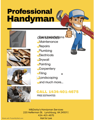 Avatar for M. and Darby's Cleaning Handyman Service LLC