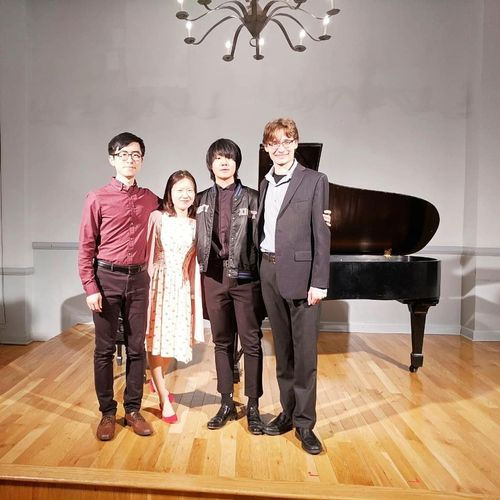 With my students after the Student Recital at Manhattan School of Music