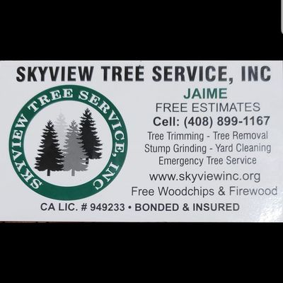 Avatar for Skyview tree service, Inc San Jose, CA Thumbtack