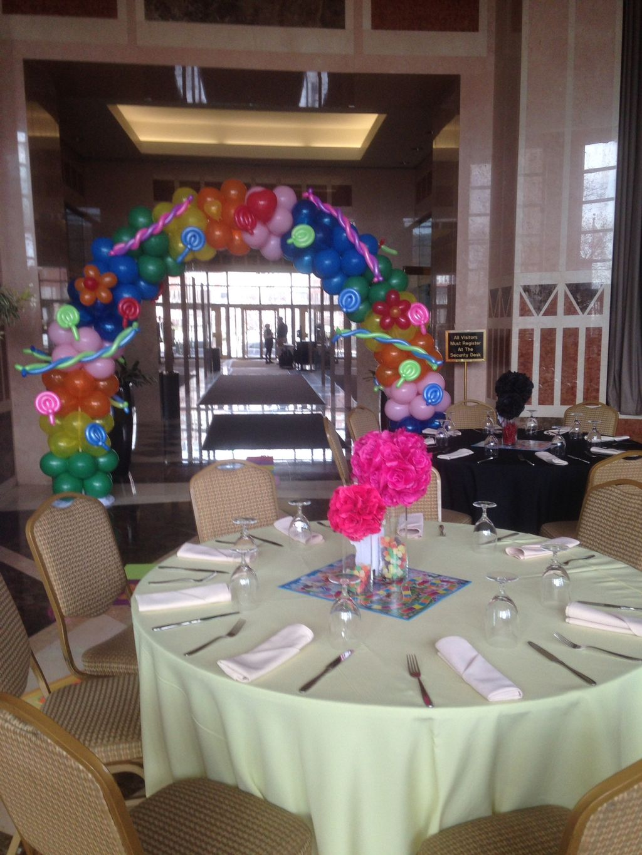 Birthday balloon decoration