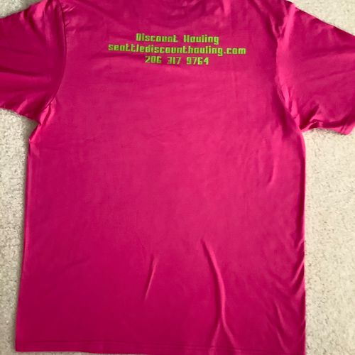 Discount Hauling honors breast cancer awareness month #october
