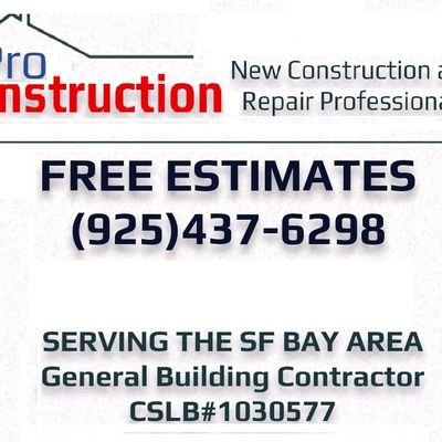 PRO-CONSTRUCTION Pittsburg, CA Thumbtack