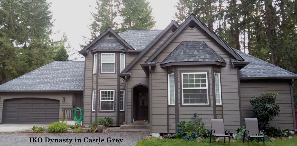 IKO Dynasty Arc shingle- color Castle Grey