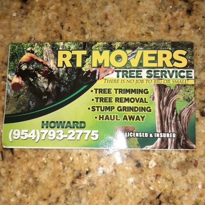Avatar for RT Movers tree trimming & removal