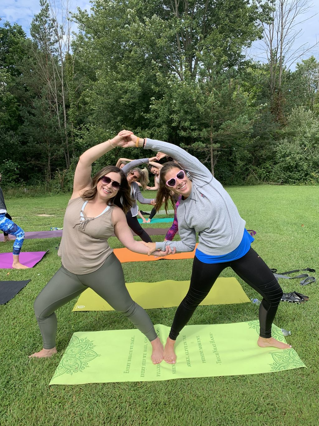Bachelorette party yoga