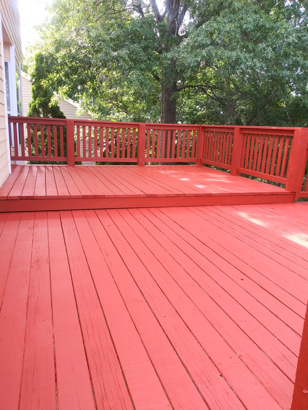 Deck remodel and staining
