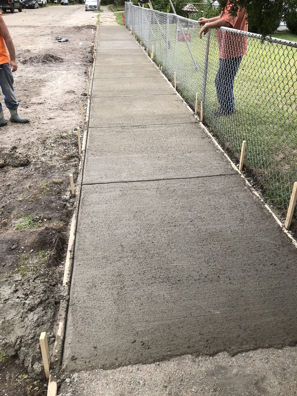 Side walk replaced