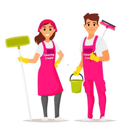 cleaning couple