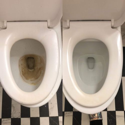 Before and After of Toilet in Move-In cleaning