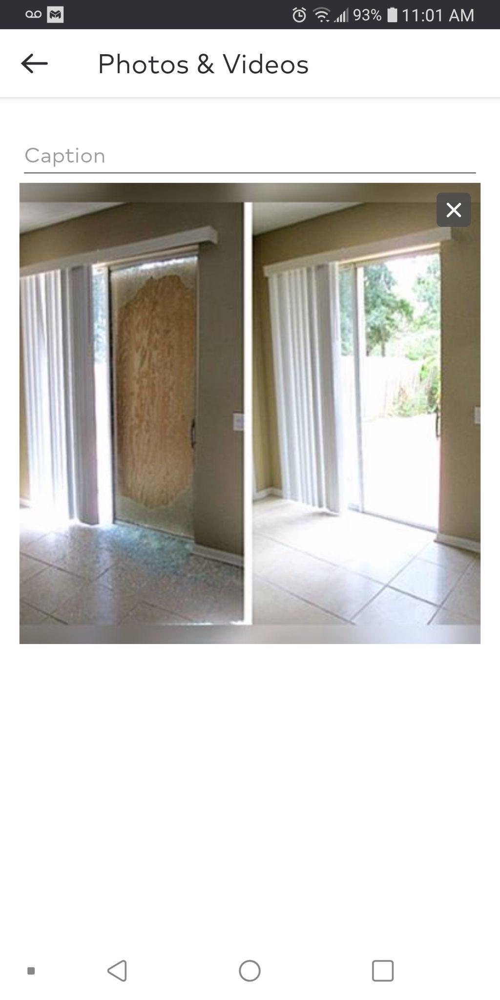 Patio sliding glass door