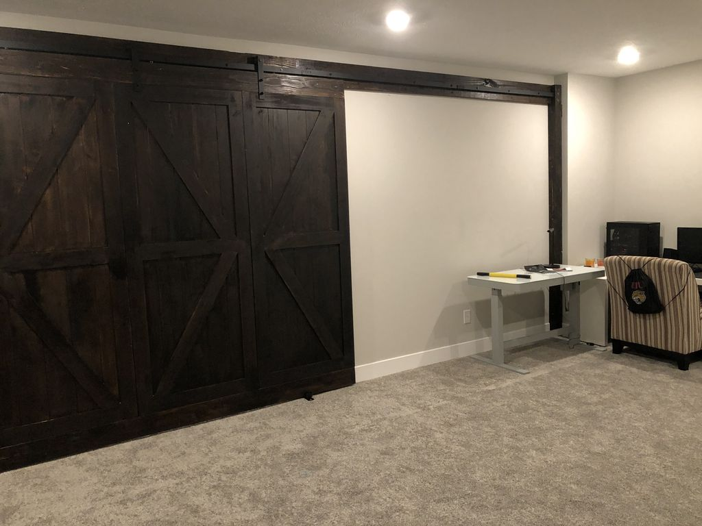 10ft interior barn door install
