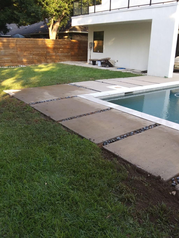Leveling concrete around pool