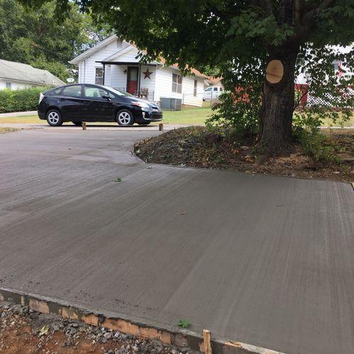 New driveway.