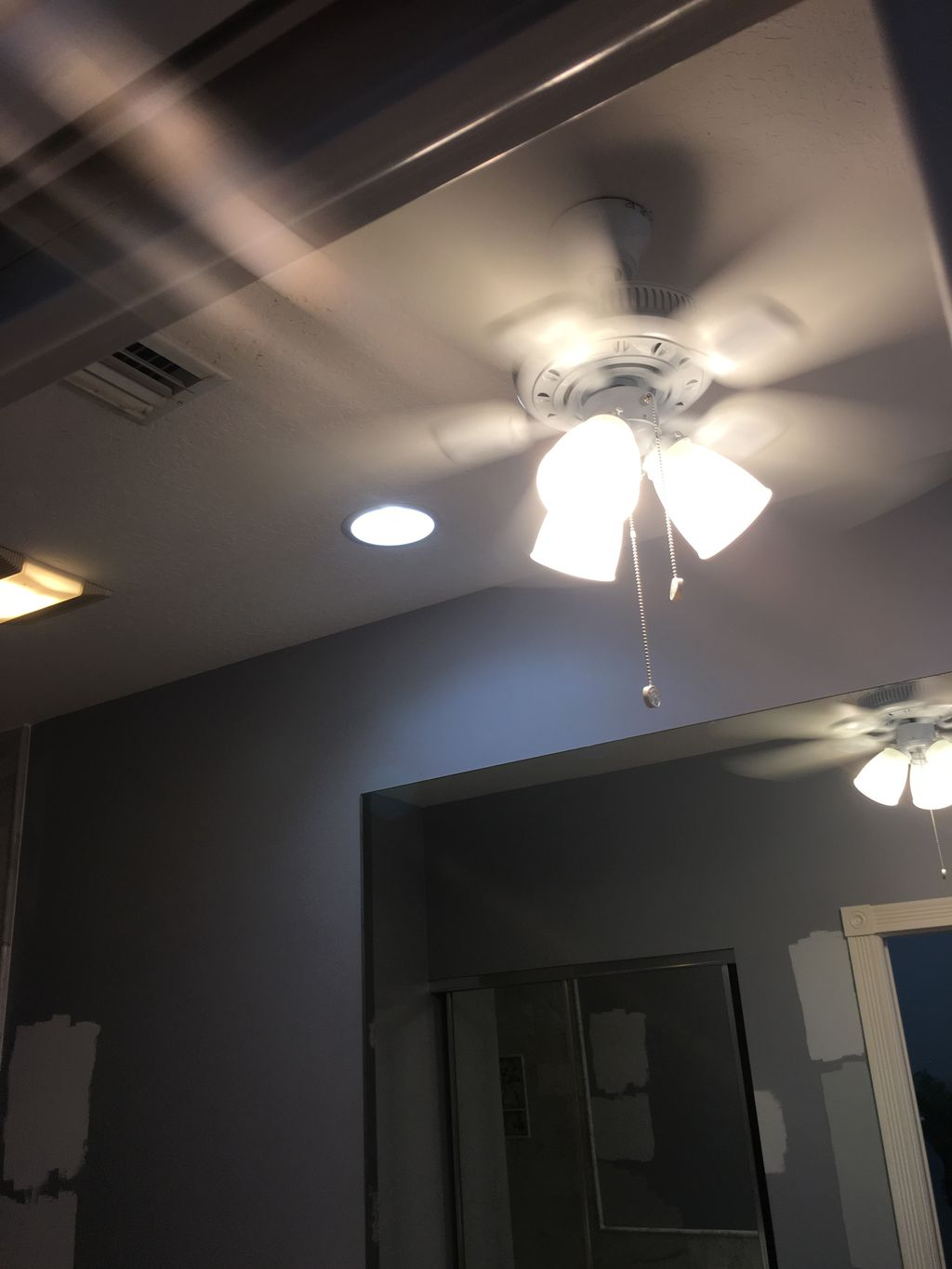 Installed new ceiling fan