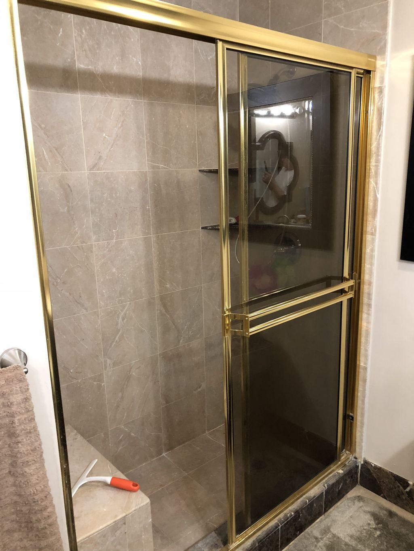 New shower doors