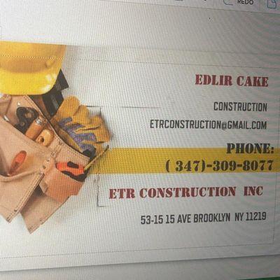 Avatar for ETR CONSTRUCTION inc Brooklyn, NY Thumbtack