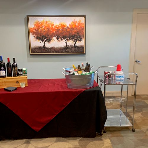"""""""Wine Down Wednesday """" for residents of an apt. Complex in Pleasanton."""