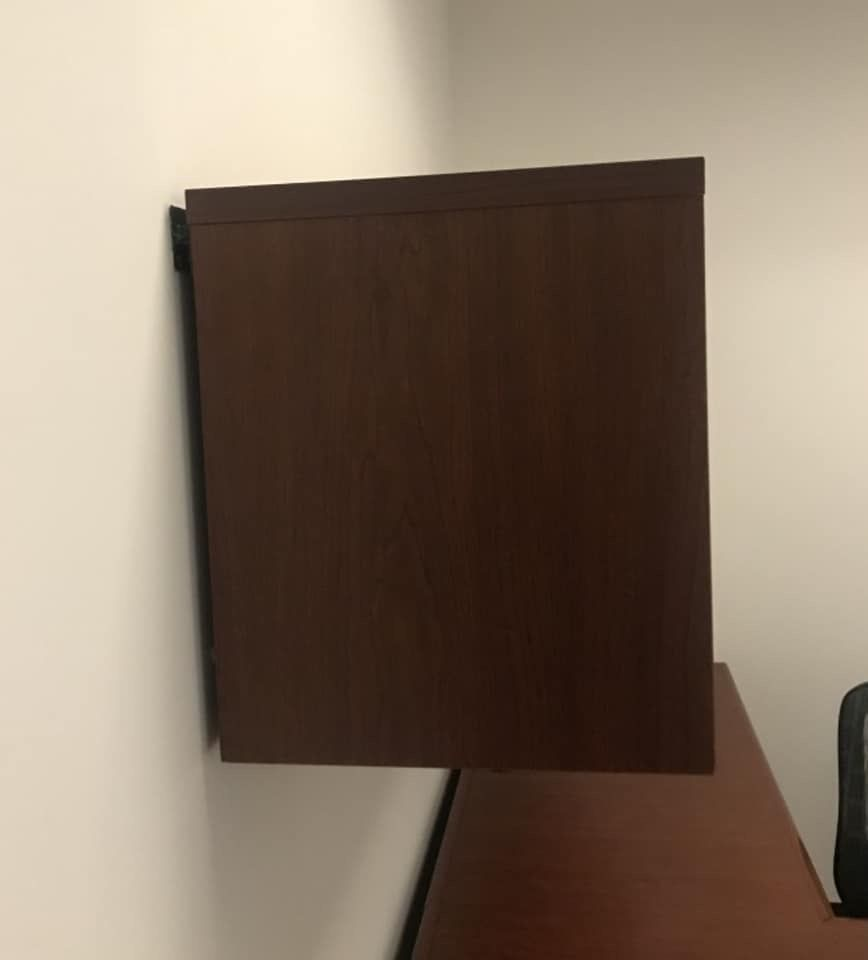 Office desk and cabinet