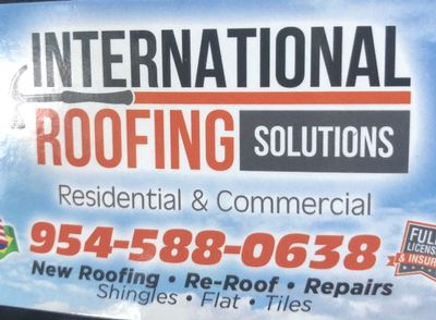 Avatar for International Roofing Solutions Pompano Beach, FL Thumbtack