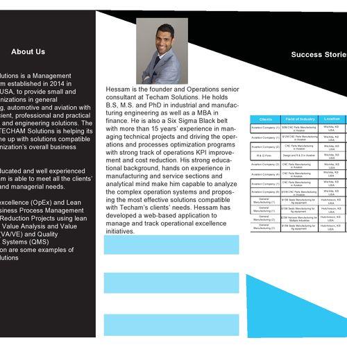 Tri-fold Brochure Design - Page 2