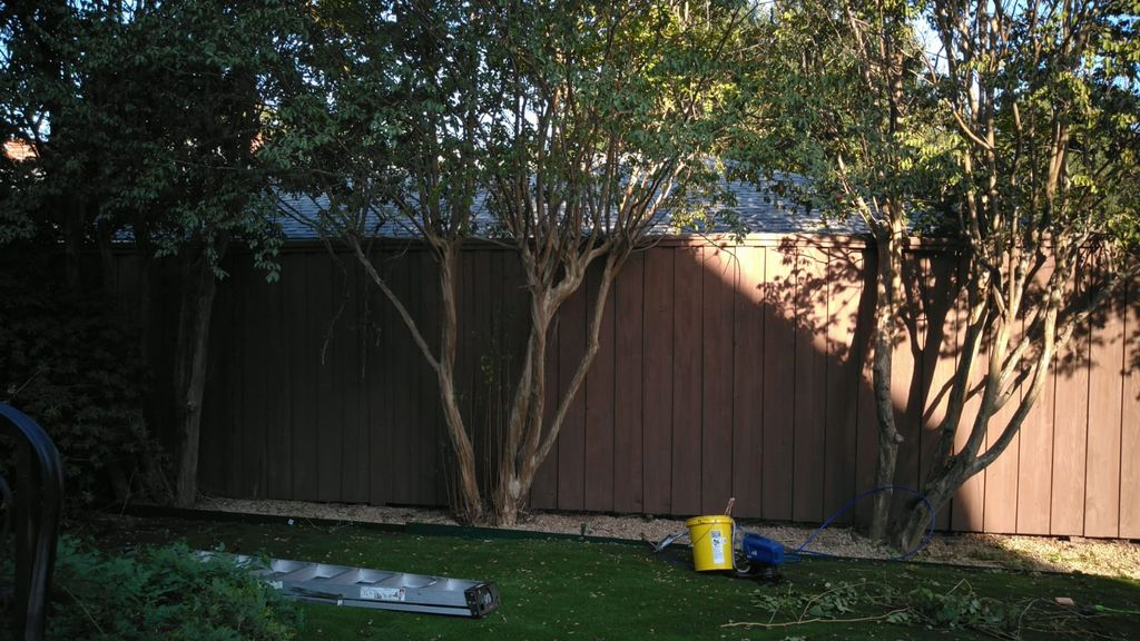 Fence repair & stained