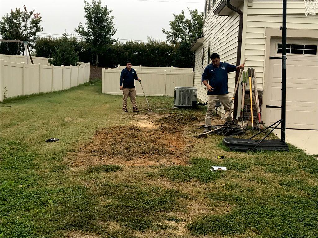 Tree planting and landscape enhancement