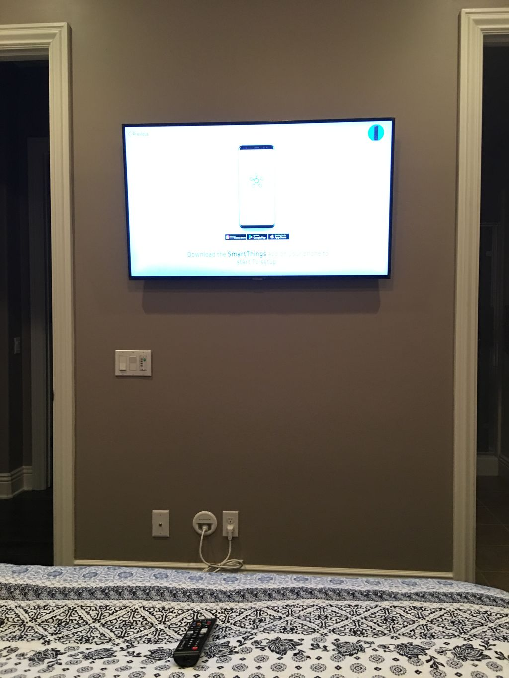 TV Mounting and in wall cord concealment - San Diego 2019