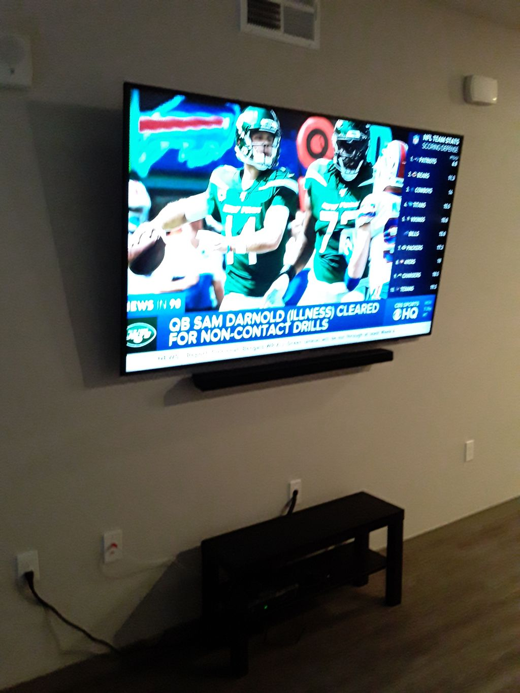 Bedroom & living room TV mounting
