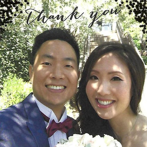 Happy couple sending THANK YOU card to our instructor Artjom who helped them with their Wedding Dance.