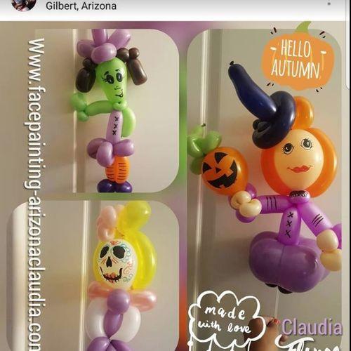 Halloween Balloon twisting
