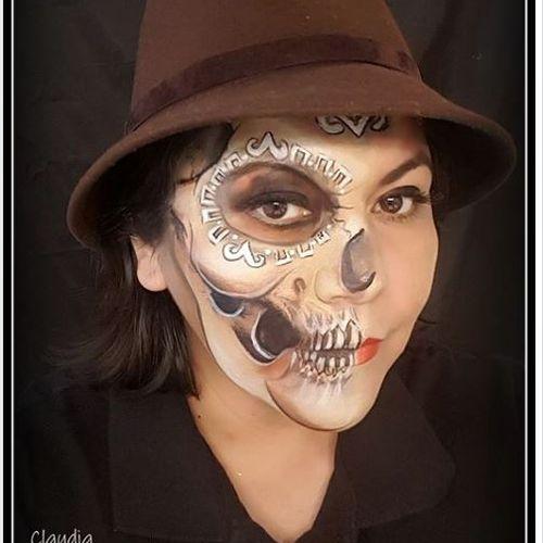 Aztec Mexican Skull make up