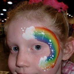 RAINBOW'S END FACE PAINTING