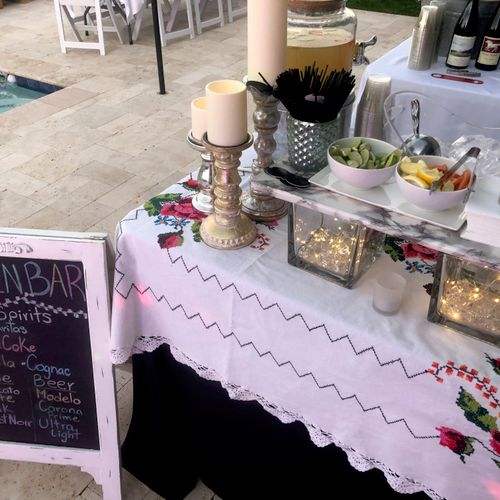 A Mexican themed birthday party for super sweet clients.