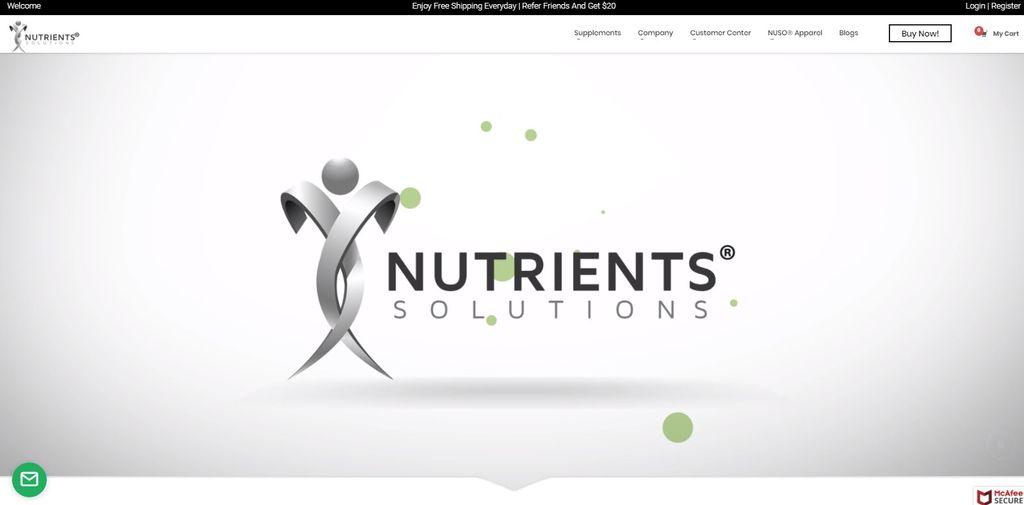 Nutrients Solutions - Online Retailer