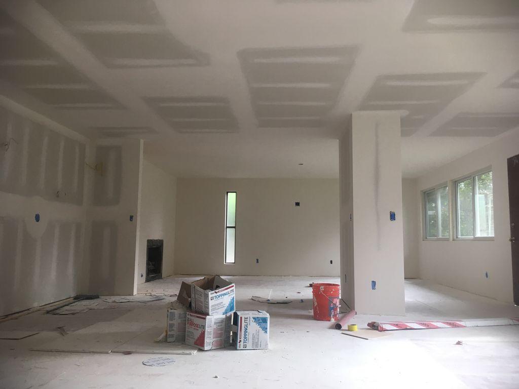 Install drywall Tape mudden