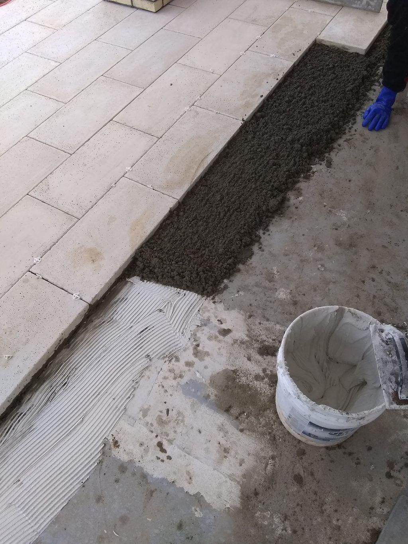 New construction front porch back porch walk ways
