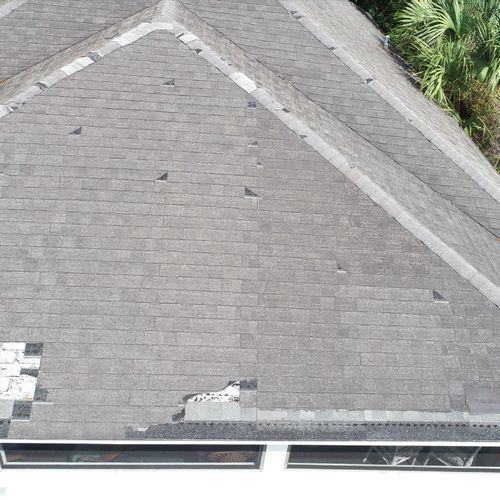 Roof inspection for insurance claims.