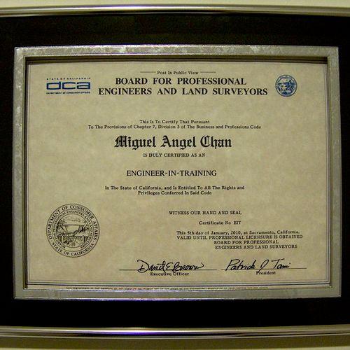 EIT Certificate.