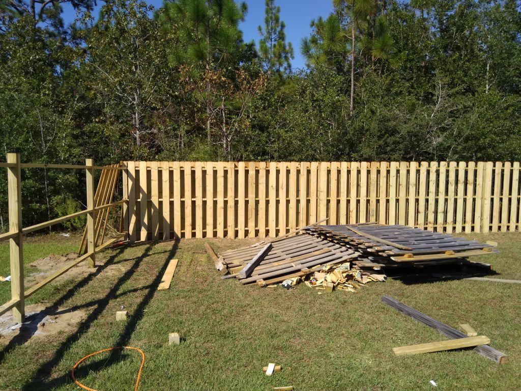 Replace fence & Purgola