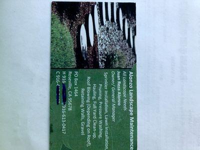 Avatar for Alonzo Landscape maintenance Roseville, CA Thumbtack