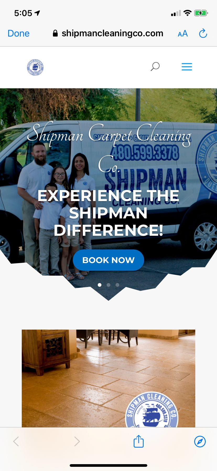 Shipman Cleaning Co Web Design