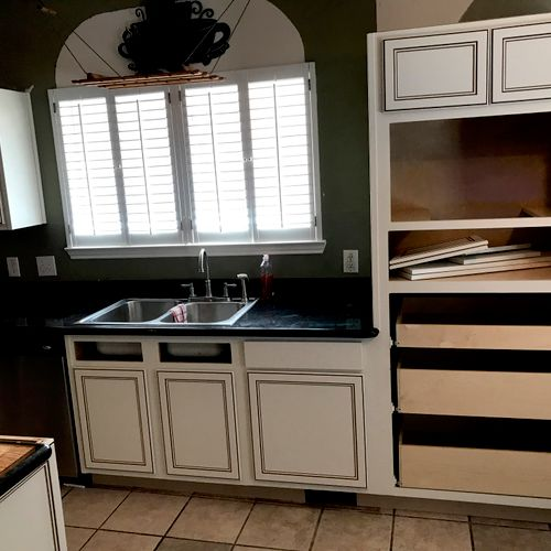 middle of cabinet refacing project