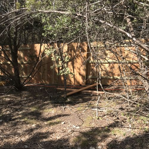more fence, hidden metal posts to be extra strong