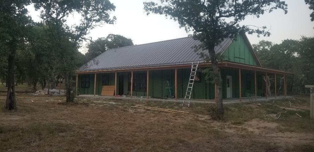 Installed Snap Lock Metal Roof