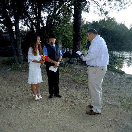 Casual, outdoor wedding