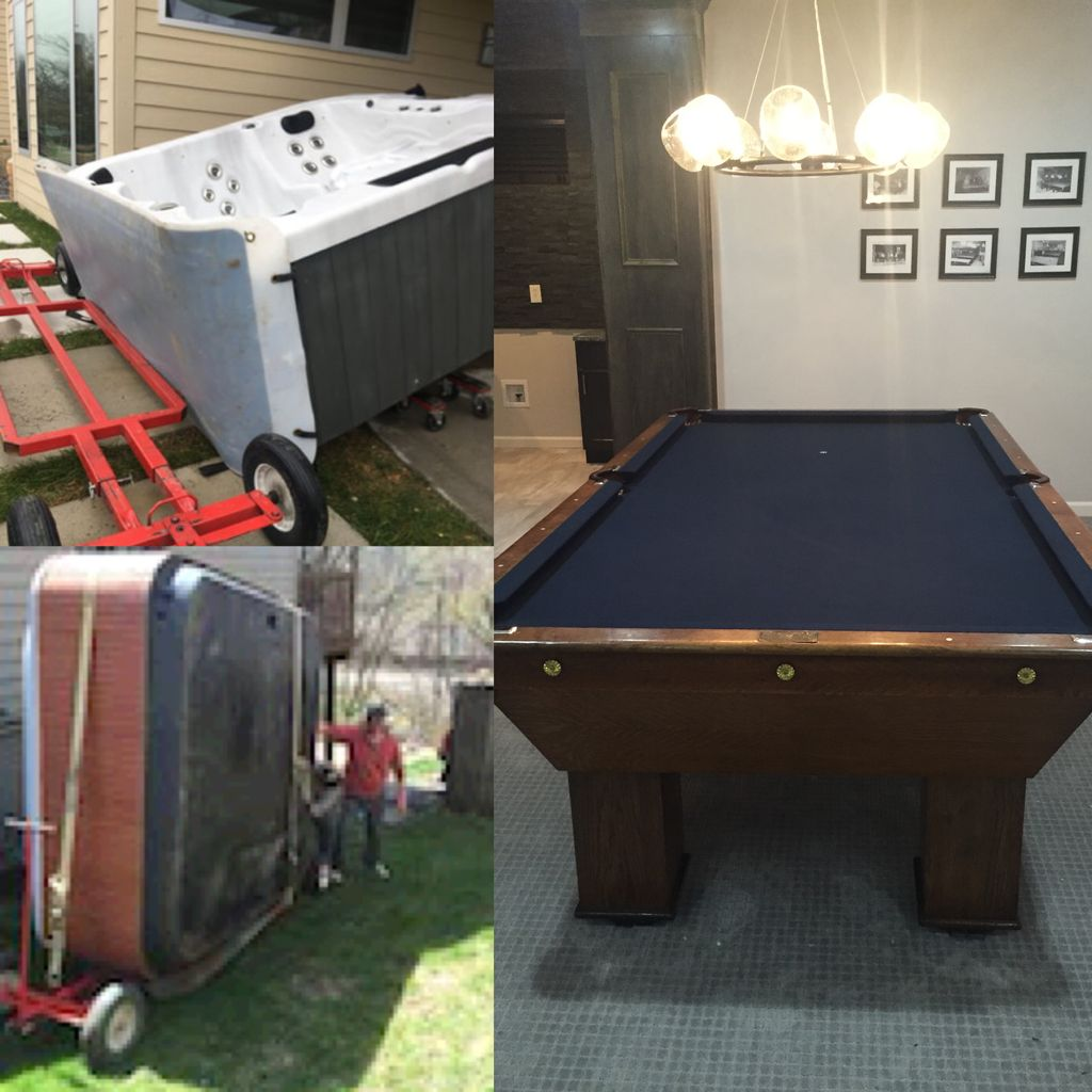 Outback Pool table/Hot tub Movers