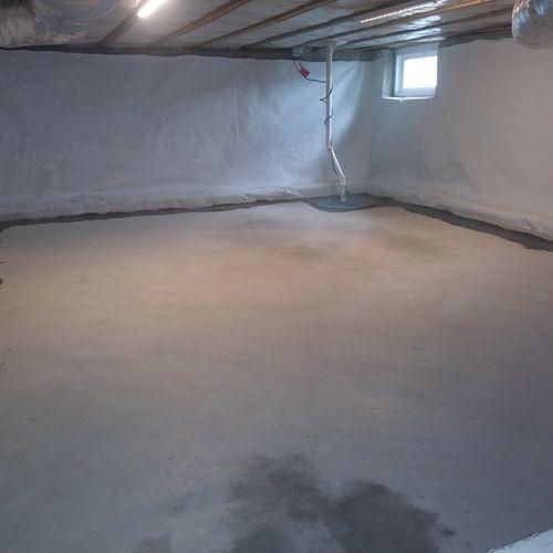 Basement (Crawlspace) Encapsulation (7/20 Medford, MA)